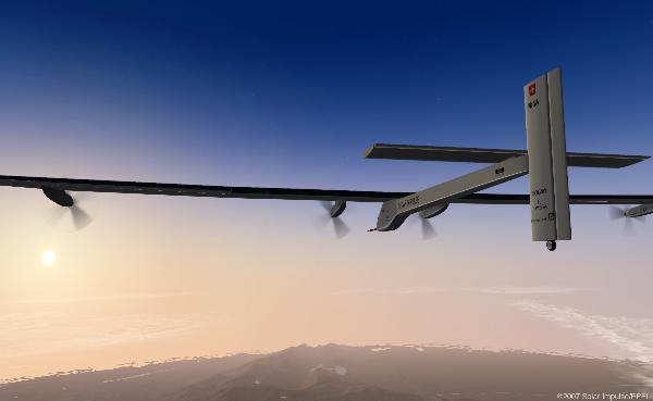 Avión panel solar