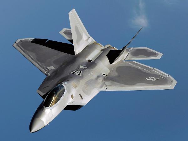 aviones de guerra. El avión de combate F-22